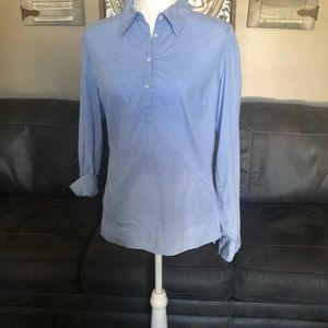 GAP Gingham Blue Shirt  XL